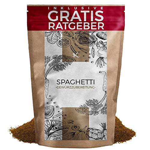 Spaghetti Gewürzmischung 250g   Nudelgewürz italienische Gewürzspezialität inkl. gratis Ratgeber   hochwertiges Küchengewürz für Pasta Nudeln & Pizza