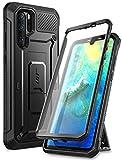 SUPCASE Huawei P30 Pro Hülle 360 Grad Schutzhülle Robust Handyhülle Bumper Case Cover [Unicorn Beetle Pro] mit Integriertem Displayschutz und Ständer für Huawei P30 Pro 2019 (Schwarz)