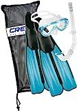 Cressi Unisex Tauchset Rondinella Bag, aquamarine, 37/38, CA189237