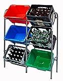 Kistenregal Flaschenkastenregal für 6 Kisten Regal für Getränkekästen 116 x 34 x 96 cm
