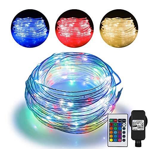 20m LED Schlauch Lichterkette Außen -String Light mit 200 LEDs, 16 Farben 4 Modi Wasserdicht Lichterketten Outdoor mit Stecker für Garten Schlafzimmer, Weihnachtsbaum, Terrasse, Zelten,Porch Deko