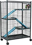 Zolux Käfig für Chinchillas/Frettchen/Ratte blau 72x 43x 107cm