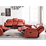 Voll-Leder Couch Relaxsofas Sofas Relaxsessel Fernsehsessel 5129-3+2-206