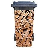 Mülltonnenaufkleber Motiv: Kamin