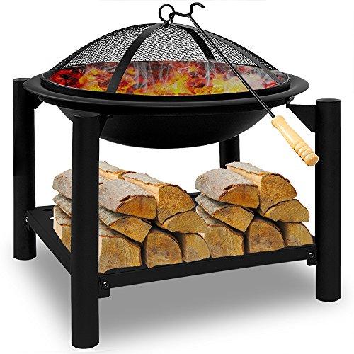 Feuerstelle 50x50 rund - Feuerkorb Feuerschale Grillfeuer Lagerfeuer