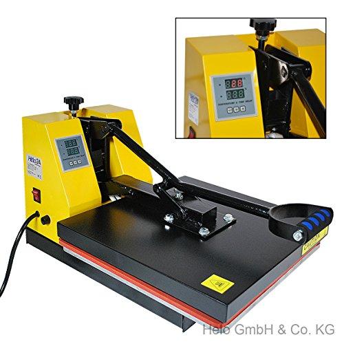 HELO Transferpresse 38 x 38 cm Standard mit verbesserter Hebeltechnik Textilpresse