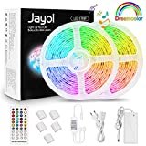 LED Strip Dreamcolor 10m, Sync mit Musik LED Stripes Lichtband, Eingebauter Digital IC, Timerfunktion, Ein-Tasten-Dimmen, 5050 RGB Strip wasserdichte LED Lichterkette für Deko Party