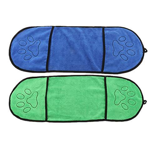 F Fityle 2 Stück Hundehandtuch Extra saugfähig Badetuch Haustierhandtuch für Hunde Katzen, 64 x 23 cm