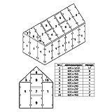 Zelsius 6 mm Ersatzplatten Set für Gewächshaus 06, Hohlkammerstegplatte aus Polykarbonat, Gewächshausplatte, Doppelstegplatte