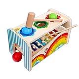 Schramm Kinder Holz und Musik Hammer Spiel Holzinstrument für Kinder Holzspielzeug für Kinder Xylophon Klopfbank