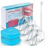 Dupore.  Aufbissschienen Set (4 Stk) - Für ein Leben ohne Zähneknirschen - Zertifizierte Zahnschienen + GRATIS EBOOK, Aufbewahrungsbox und Zahnbürste + Zufriedenheitsgarantie