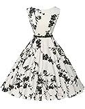 Schöne festliches kleid festliches Kleid blumenmuster sommerkleid rockabilly kleid Größe L CL6086-11