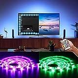 BASON LED Strip, Stromversorgung über USB TV Hintergrundbeleuchtung, Led Lichterkette, für 55, 58 Zoll TV/Flachbildschirm/Wandhalterung Kino Dekoration LED Beleuchtung mit Fernbedienung.