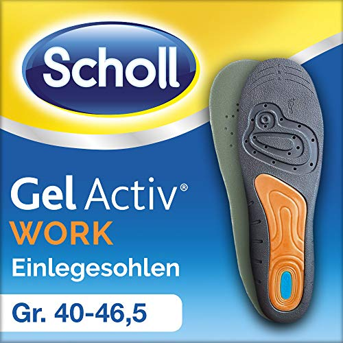 Scholl GelActiv Einlegesohlen Work, Größe 40-46,5, 1 Paar