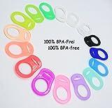Silikonring (Adapter) für Schnuller - Schnullerhalter für Baby Schnullerketten aus weichem Silikon 100% BPA Frei
