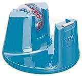 tesa Tischabroller, mit neuem Anti-Rutsch Boden, Modell 'Compact', blau, inkl. 1 Rolle tesafilm