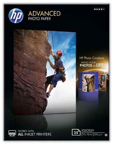 HP Q8696A Advanced Glossy Fotopapier 250g/m² 13x18cm 25 Blatt, weiß