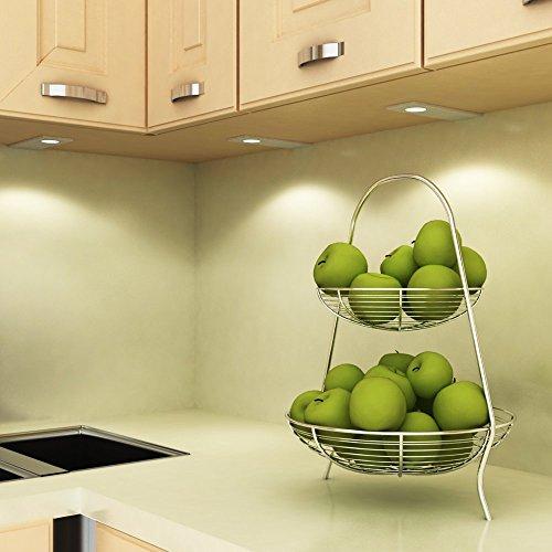 LED Küchenleuchte Unterbauleuchte Aufbauleuchte Küchenlampe Unterbaustrahler SET, Auswahl:2er Set warmweiss