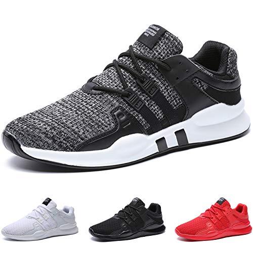 BAOLESME Sportschuhe Herren Atmungsaktiv Gym Laufschuhe Leichtgewicht Turnschuhe Freizeit Outdoor Sneaker,02-grau,EU 42
