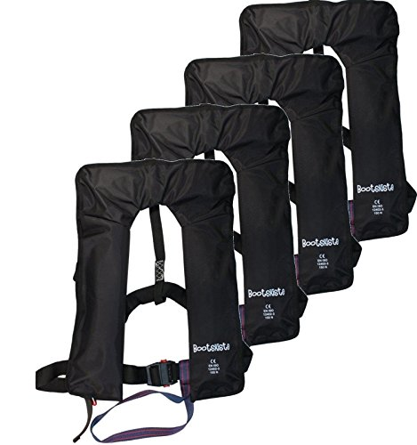 4 Stück vollautomatische Rettungsweste mit Bergungsschlaufen 160 Newton (Rettungsweste)