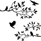 Goodplan 1 STÜCKE Exquisite Äste Vogel Wandaufkleber Stilvolle Wandaufkleber Selbstklebende Fensteraufkleber für Home Office Decor