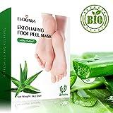 Fuß Peeling Maske, Entfernt Hornhaut und Abgestorbene Haut, für Weiche Baby Füße, 2 Paar, Repariert Rauhe Fersen, Macht Ihre Füße Gesund und Geschmeidig (2)