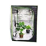 EC Breath Growzelt 60x60x140cm Growbox Growschrank Gewächszelt Zuchtzelte Zuchtschrank Pflanze Zelt Garten Wachstum Box für Homegrowing, Indoor Pflanzenzucht, Ganzjährige Pflanze, schwarz