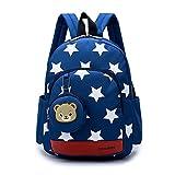 DafenQ Kindergartenrucksack Kinderrucksack Mädchen Jungen Kindergartentasche Babyrucksack Schöne Kindertasche Kindergarten Schulrucksack Kinder Schultasche Vorschulrucksack (Marineblau)