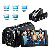 Videokamera Camcorder Full HD 1080P 30FPS 24.0MP Vlogging Kamera Makro Fokussierung 3 Zoll Touchscreen Digital Camcorder mit Fernbedienung