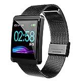 CanMixs Fitness Armband, CM11 Wasserdicht IP67 Fitness Tracker Farbbildschirm Smartwatch Aktivitätstracker Schrittzähler Uhr mit Stoppuhren Vibrationsalarm Anruf SMS Beachten für Damen Herren Kinder