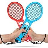 Keten Tennisschläger für Nintendo Switch Joy-Con, Twin Pack Tennisschläger für Nintendo Switch Joy-Con Controller und Switch Tennisspiel (1X Blue & 1X Red)
