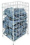 Abfallkorb Papierkorb Sammelkorb Metall weiß - ca. 30 Liter Volumen - für Boden o. Wand