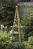 Smart Garden 1.5m Natural Wood Woodland Obelisk Climbing Plant Trellis Support