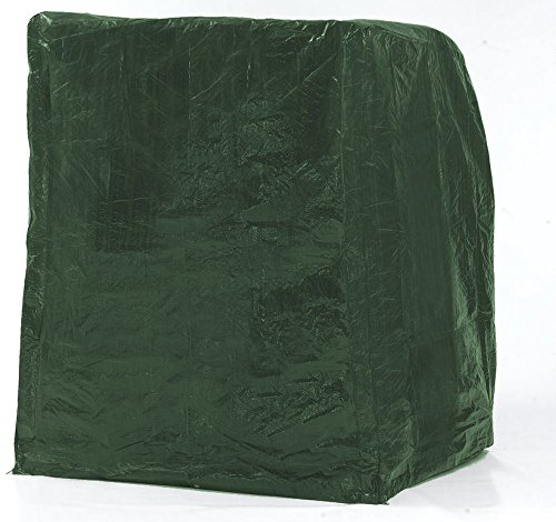 SAUERLAND Strandkorb Schutzhaube f�r 2 Sitzer, Foliengewebe gr�n, ca. 130 x 90 x 163/132 cm