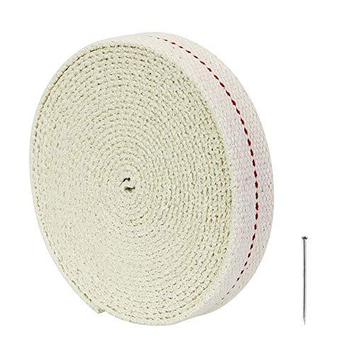 DECARETA Ersatz-Docht, Flacher Docht, 4,5 m Docht Öllampe Docht Baumwolle 2,0 cm für Öllampe/Öllaterne