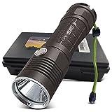 HIILIGHT LED Taschenlampe 3000 Pro - Taktische Outdoor XM-L2 Flashlight Mit Akku Set