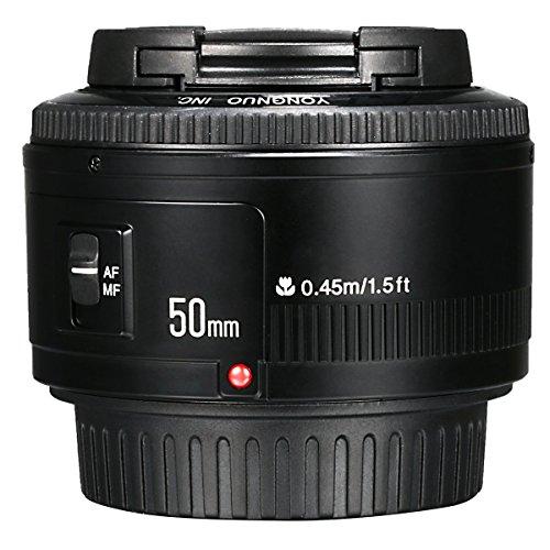 Yongnuo YN 50mm F/1.8 AF/MF Groß Aperture Autofokus Objektiv für Canon EF Mount EOS Camera Kamera LF651