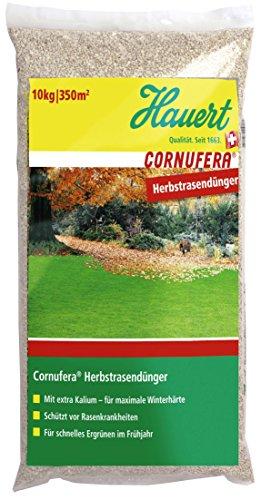Hauert HBG Dünger AG 800710 Düngemittel Hauert Cornufera Herbstrasendünger, 10 kg für 300 m²
