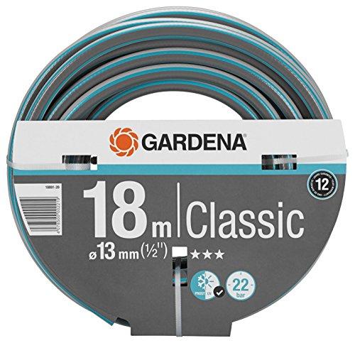 GARDENA Classic Schlauch Aktion 13 mm (1/2'), 18 m: Universeller Gartenschlauch aus robustem Kreuzgewebe, 22 bar Berstdruck, UV-beständig, ohne Systemteile (18001-20)
