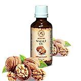 Walnussöl 100% naturreines und reines 50 ml, Walnußöl - Juglans Regia Seed Oil, Glasflasche, Basisöl, USA, Walnuss Öl kaltgepresst und raffiniert, Walnuss Süß reich an Omega 3, intensive Pflege für Gesicht, Körper, Haare, Haut, Nägel, Hände, Anti-Falten /Anti-Aging, rein verwendet, gut mit ätherischem Öl / für Schönheit / Beauty /Aromatherapie / Entspannung / Massage / Wellness / Kosmetik / Körperpflege / Entspannung / unverdünntes / Alternative Medizin von AROMATIKA