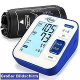 Blutdruckmessgerät, Lovia Oberarm-Blutdruck messgeräte, Digitales automatisches Messen von Blutdruck und Herzfrequenz, Großbildschirm, 2x120 Speicherkapazität, FDA/CE zertifiziert.