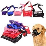 Maulkorb für Hunde, atmungsaktiv Sicherheit Hund S für Beißen Kauen, Hund Maske für kleine, mittelgroße Hunde–1verstellbare Nylon Mesh Hund Mund, groß