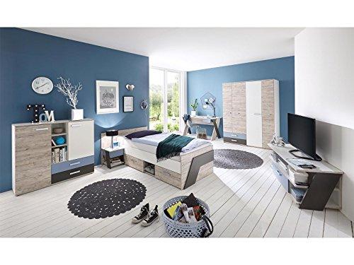 Jugendzimmer komplett Set Kinderzimmer Schlafzimmer Möbel 'Ferdy I'