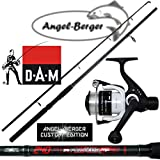 Angel Berger Angelset Steckrute und Rolle (2.40m Rute + 130 RD Rolle)