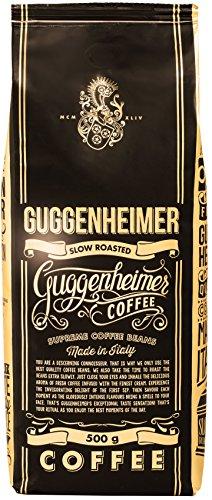 NEU in Deutschland - GUGGENHEIMER COFFEE - Kaffeebohnen 2kg - Extra langsam geröstet - wenig Säure und Bitterstoffe - Barista-Qualität - Feinste Crema - Bester Espresso für Vollautomaten - 4 x 500 g