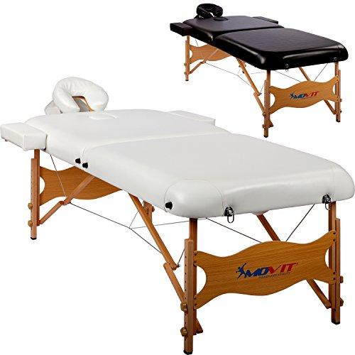 MOVIT Deluxe Massageliege inkl. Tasche, XXL Breite 80cm, 8cm Polsterung, Vollholzgestell, Farbwahl, schadstoffgeprüft
