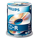 Philips CD-R Rohlinge (700 MB Data/ 80 Minuten, 52x High Speed Aufnahme, 100er Spindel)