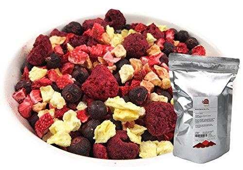 TALI Bunter Beeren Mix 175 g - Gefriergetrocknete Früchte (Ananas, Erdbeeren, Himbeeren, Schwarze Johannisbeeren)