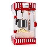 Klarstein Volcano Popcornmaschine • Popcorn-Maker • Popcorn-Bereiter • 50er Jahre Retro-Design • 300 Watt Rührwerk • kurze Aufheizdauer • Edelstahl-Topf • herausnehmbar • Innenbeleuchtung • ca. 60 l/h • Magnetschloß-Tür • Dosierlöffel • rot
