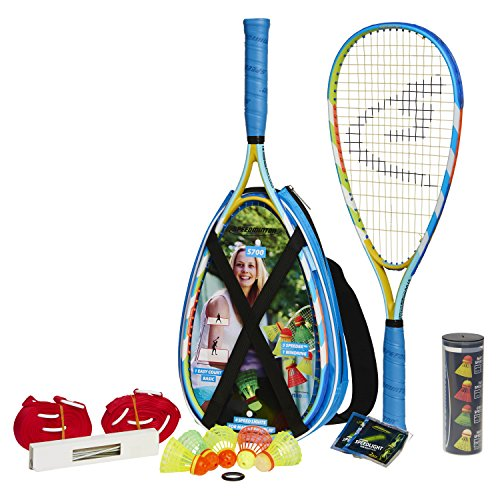 Speedminton S700 Set – Original Speed Badminton/Crossminton Allround Set inkl. 5 Speeder, Spielfeld, Tasche